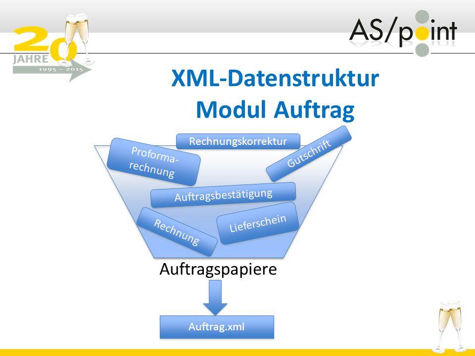 XML-Datenstruktur Modul Auftrag
