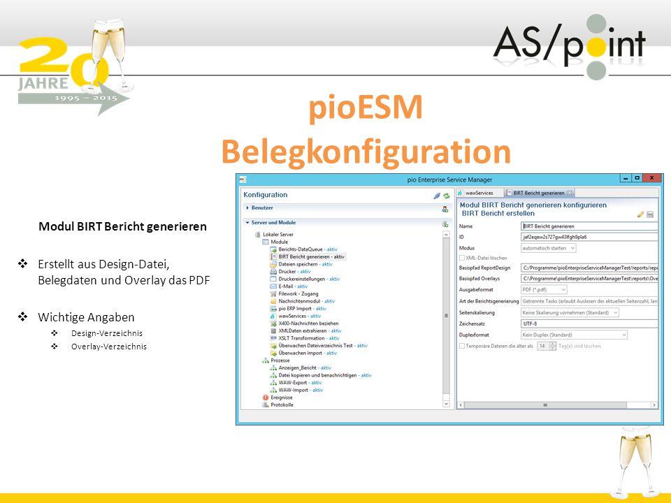 pioESM Belegkonfiguration