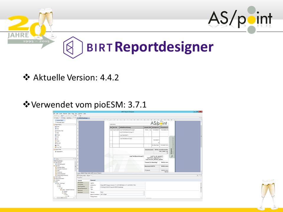 Aktuelle Version: 4.4.2 Verwendet vom pioESM: 3.7.1