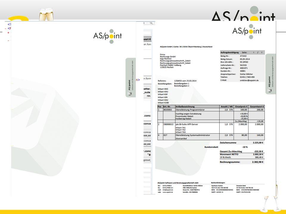 Erstellt aus Design, Daten und Overlay die entsprechenden Ausgaben