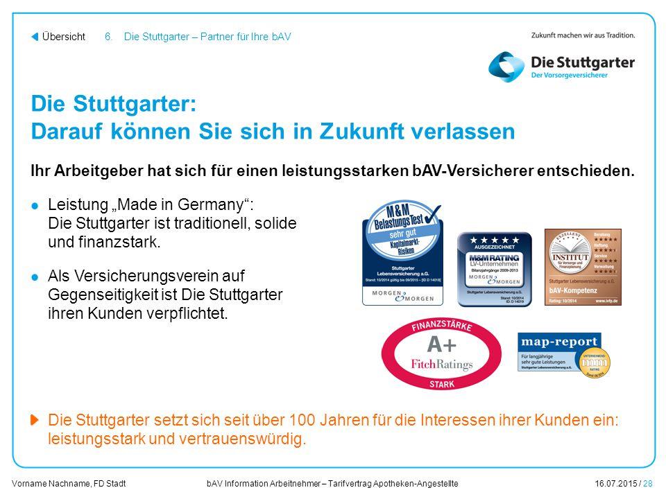 Die Stuttgarter: Darauf können Sie sich in Zukunft verlassen