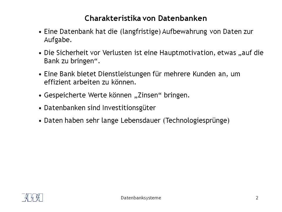 Charakteristika von Datenbanken