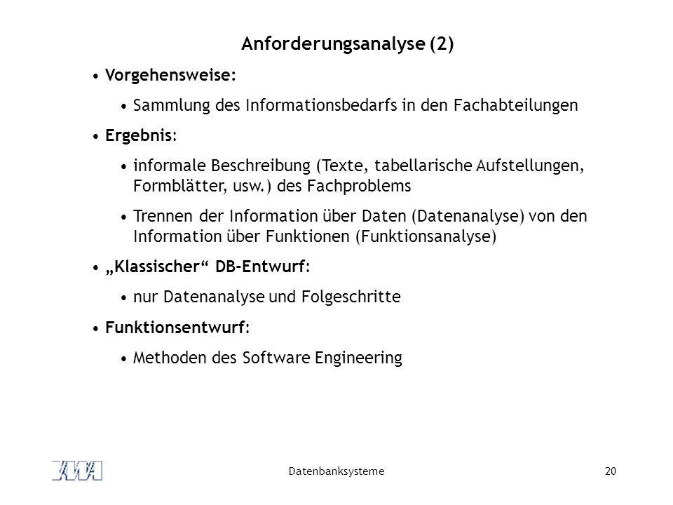 Anforderungsanalyse (2)