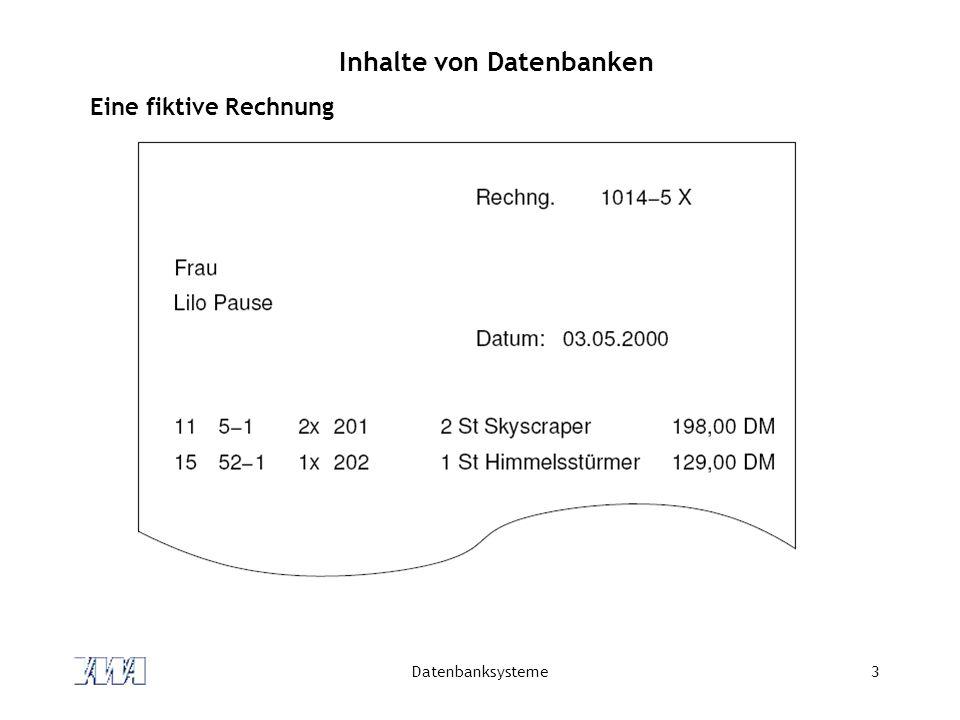 Inhalte von Datenbanken