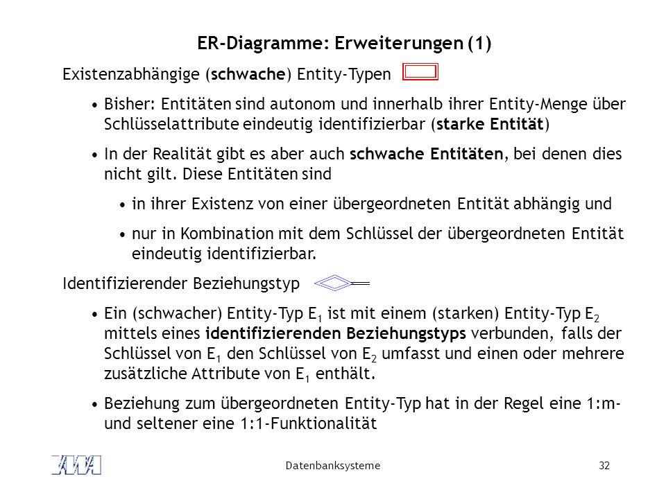 ER-Diagramme: Erweiterungen (1)