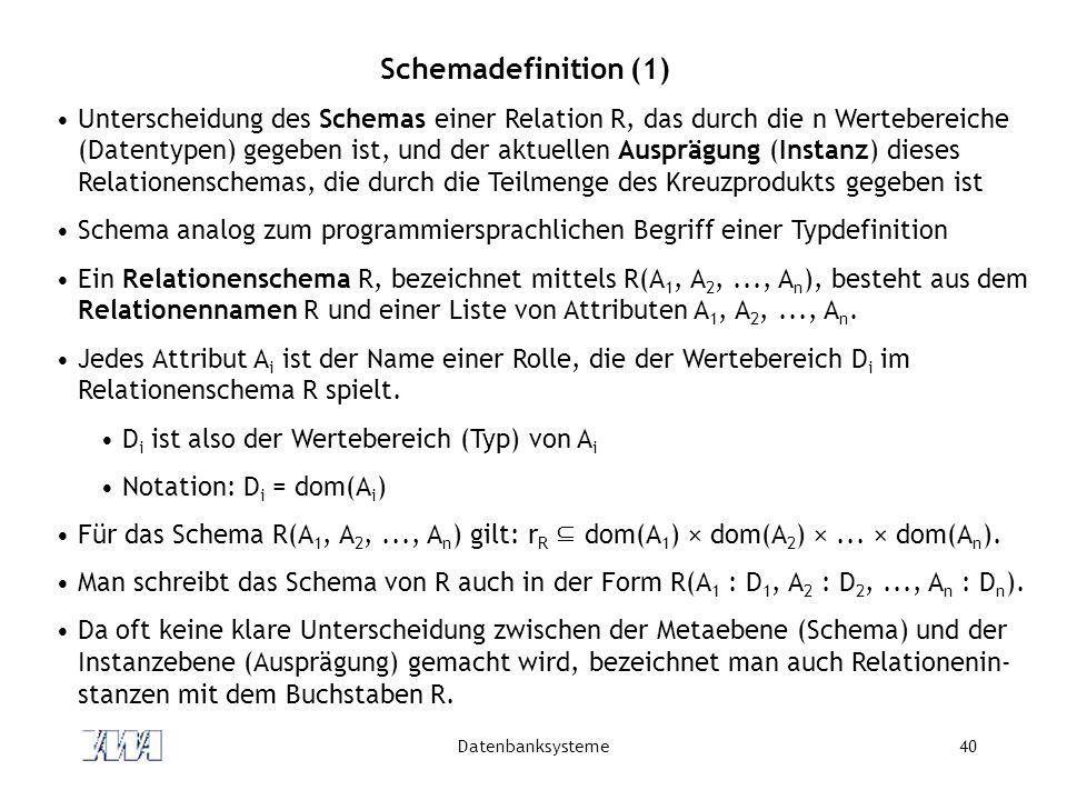 Schemadefinition (1)