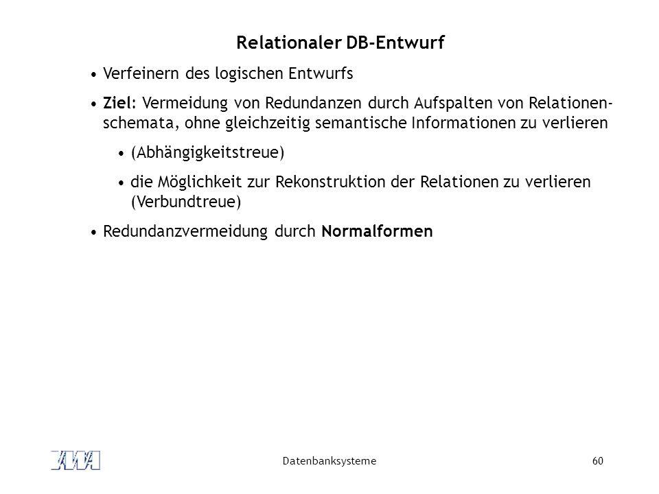 Relationaler DB-Entwurf