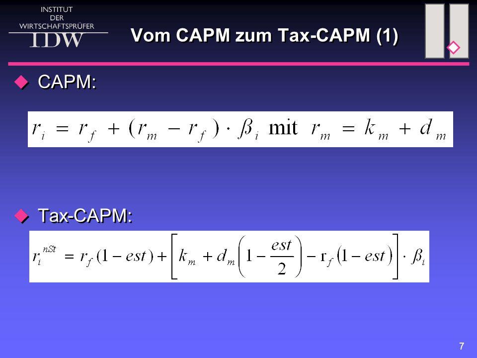 Vom CAPM zum Tax-CAPM (1)