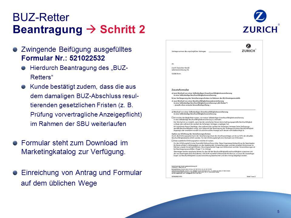 BUZ-Retter Beantragung  Schritt 2