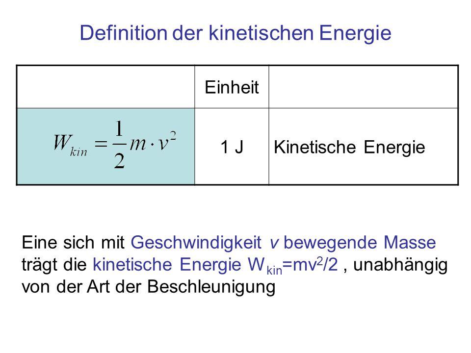 Definition der kinetischen Energie