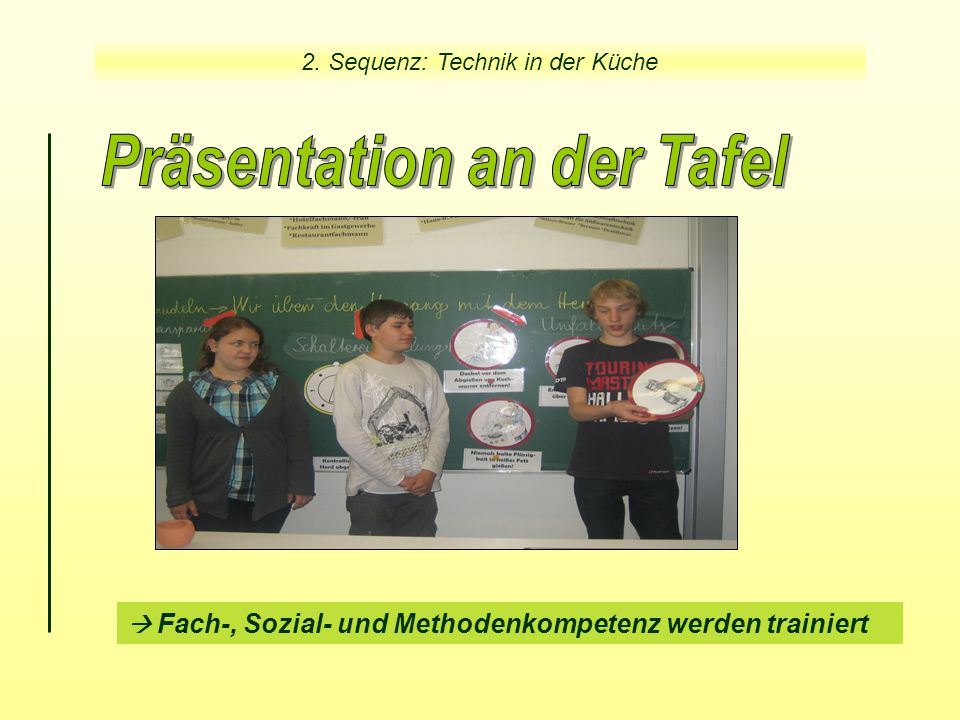 Präsentation an der Tafel