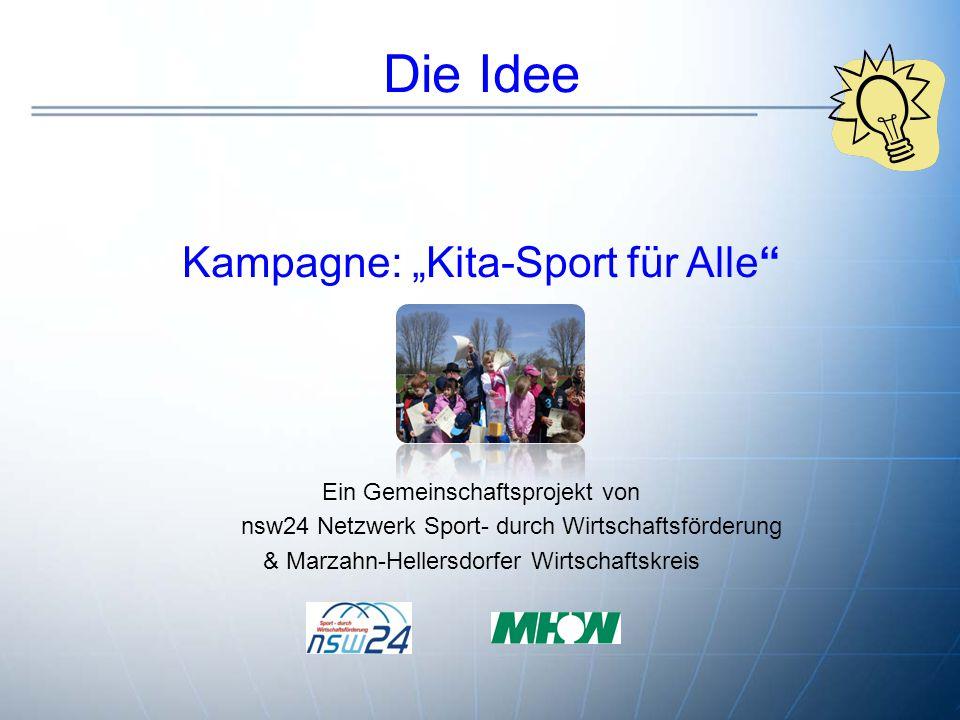 "Die Idee Kampagne: ""Kita-Sport für Alle ."