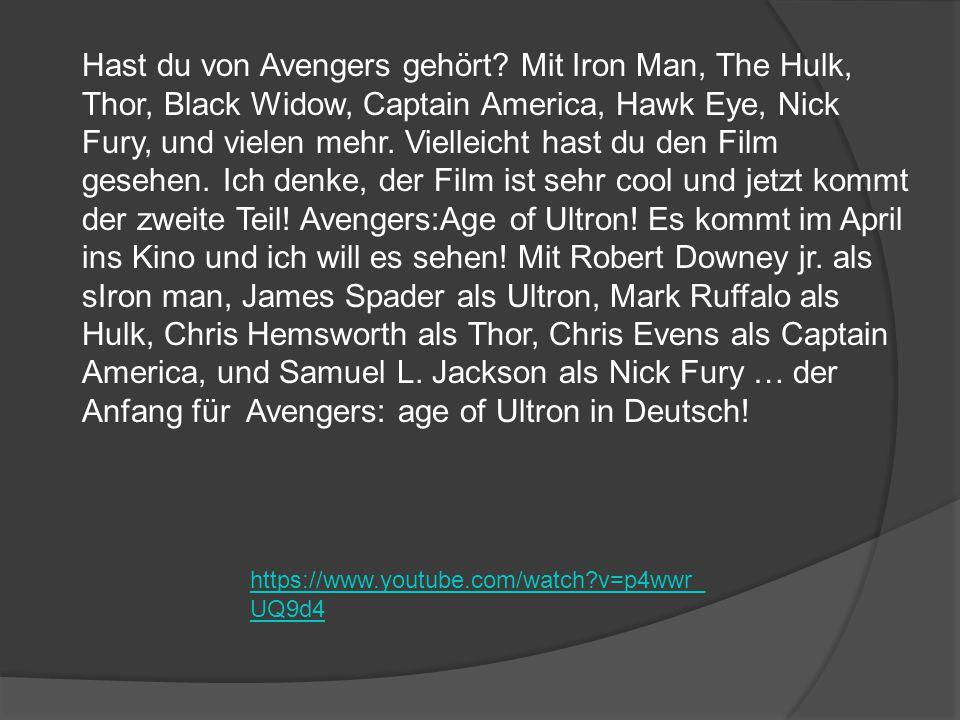 Hast du von Avengers gehört