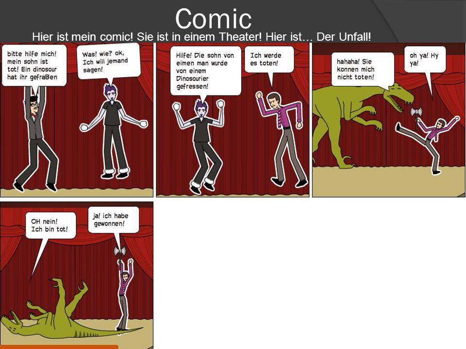 Comic Hier ist mein comic. Sie ist in einem Theater.