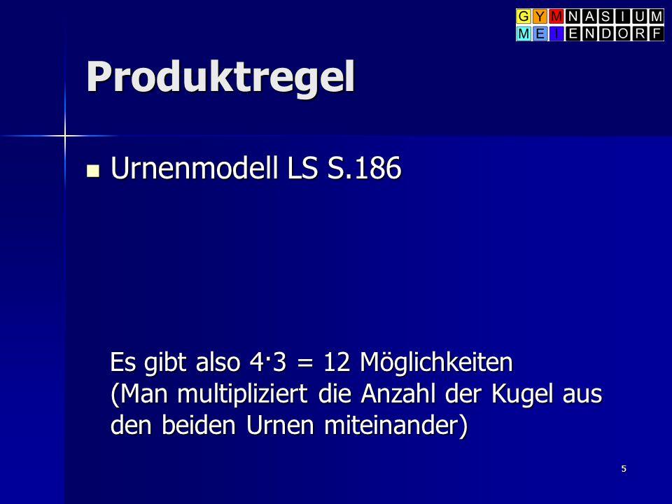 Produktregel Urnenmodell LS S.186