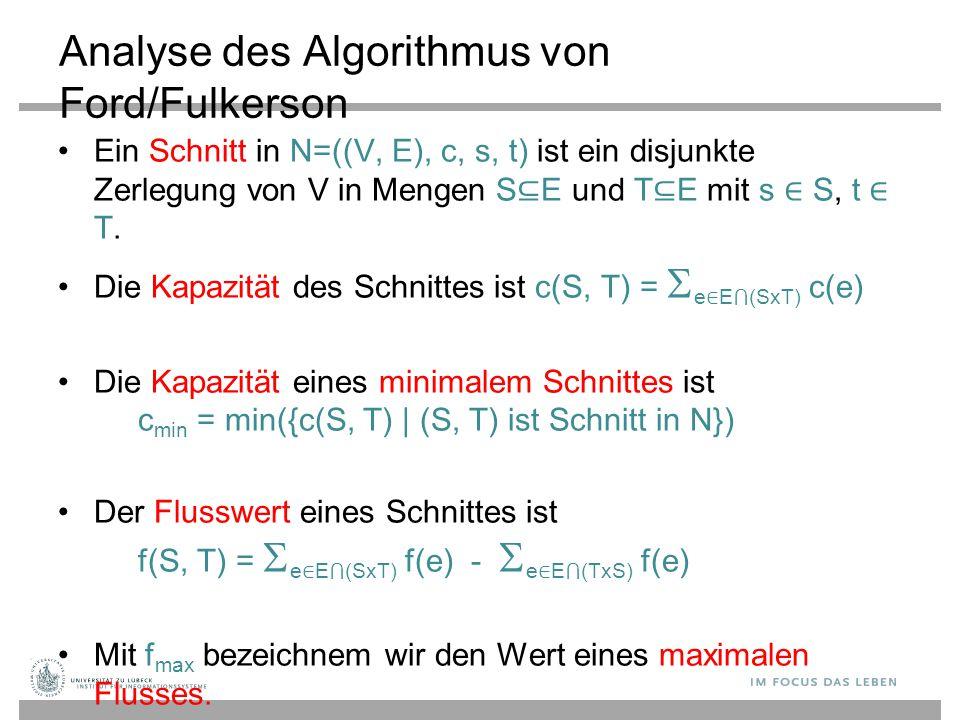 Analyse des Algorithmus von Ford/Fulkerson