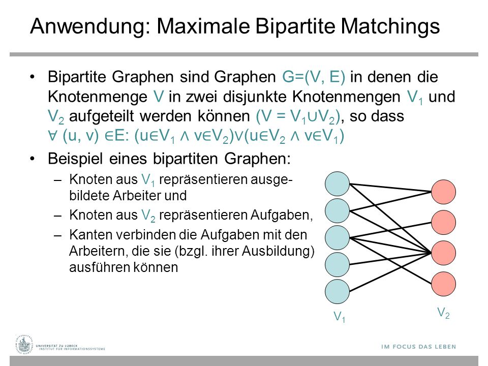 Anwendung: Maximale Bipartite Matchings