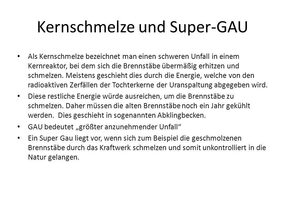 Kernschmelze und Super-GAU