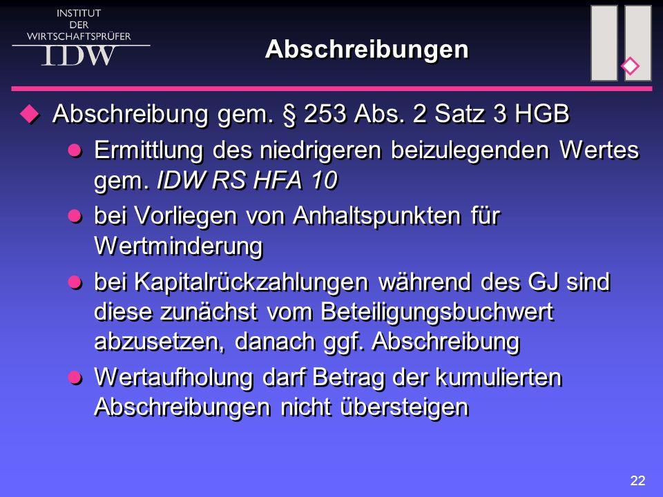 Abschreibung gem. § 253 Abs. 2 Satz 3 HGB