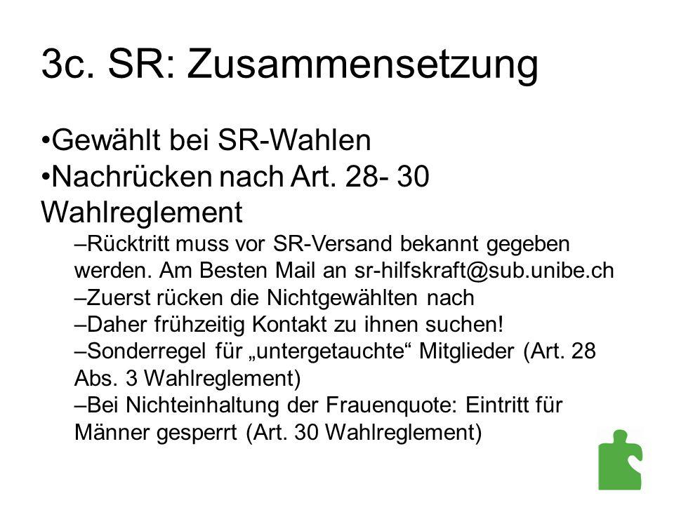 3c. SR: Zusammensetzung Gewählt bei SR-Wahlen