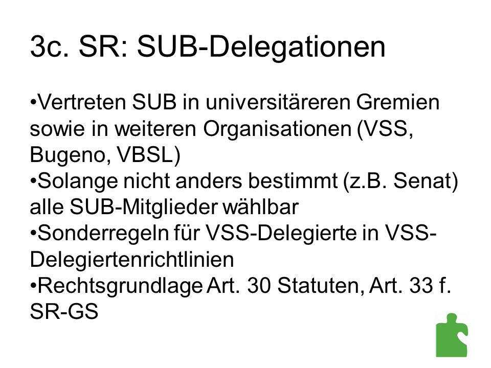 3c. SR: SUB-Delegationen