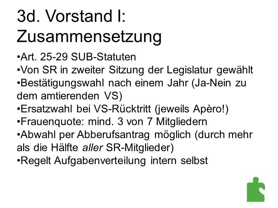 3d. Vorstand I: Zusammensetzung