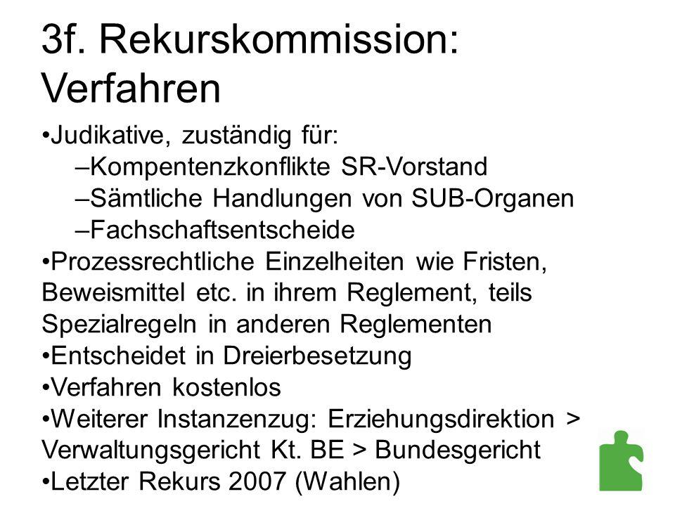 3f. Rekurskommission: Verfahren