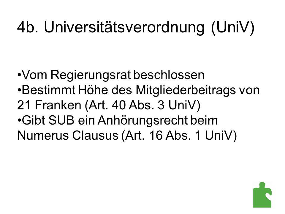 4b. Universitätsverordnung (UniV)