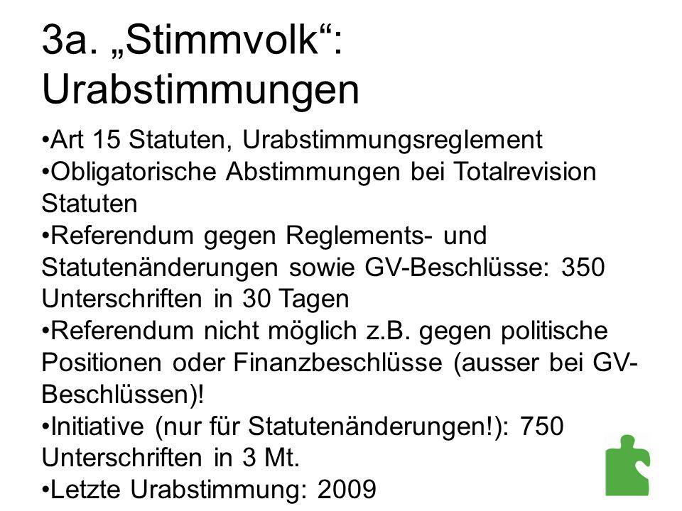 """3a. """"Stimmvolk : Urabstimmungen"""