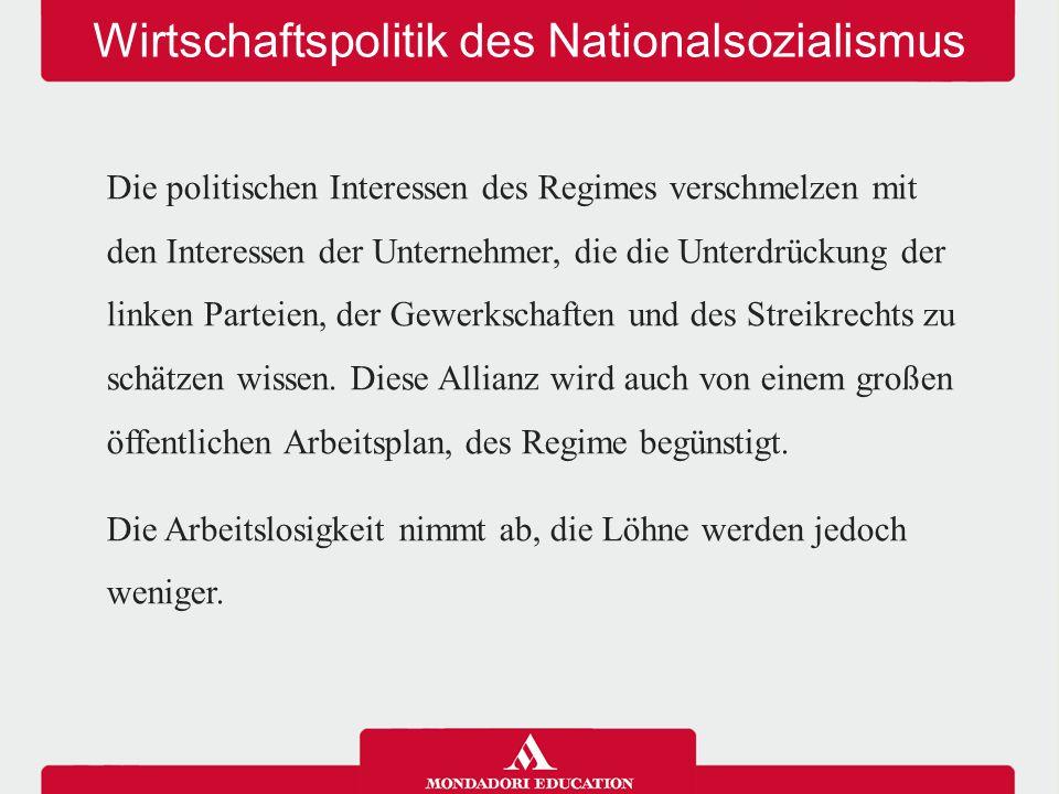 Wirtschaftspolitik des Nationalsozialismus