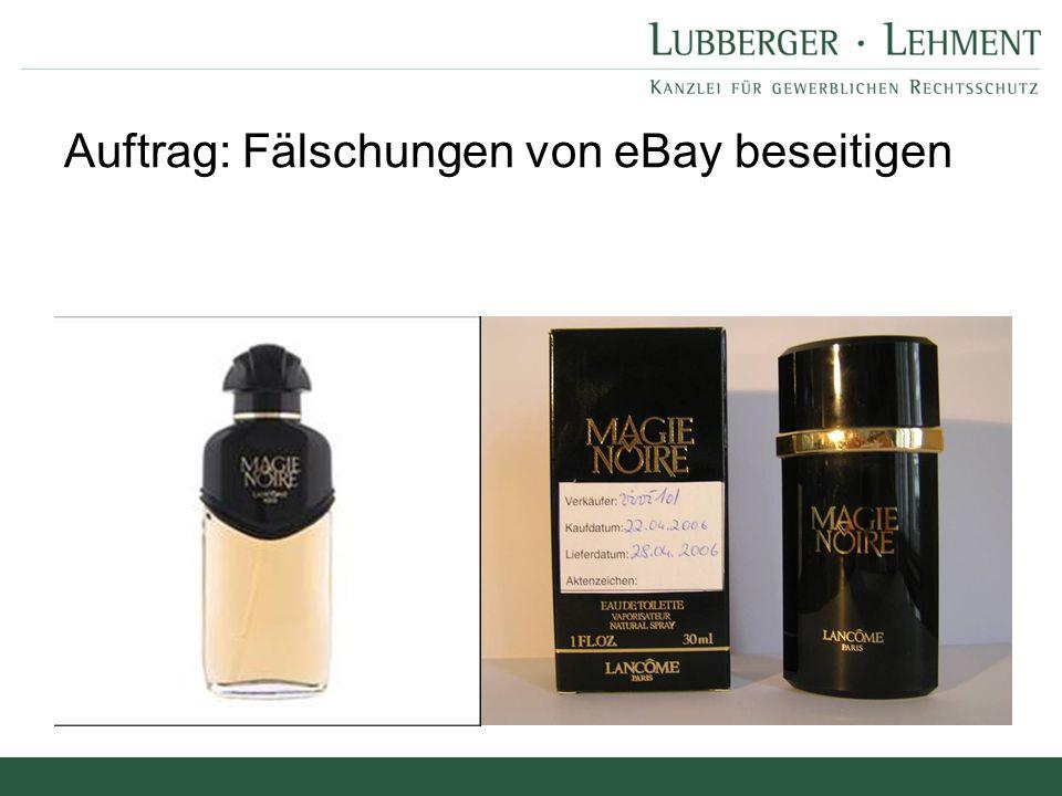 Auftrag: Fälschungen von eBay beseitigen