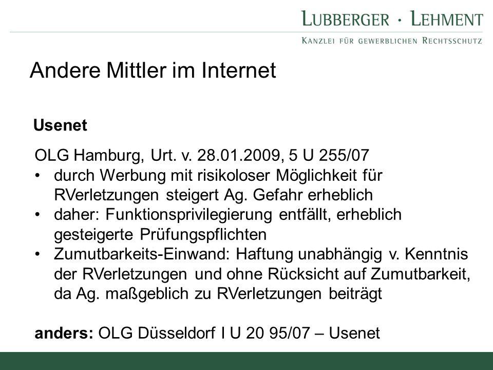 Andere Mittler im Internet