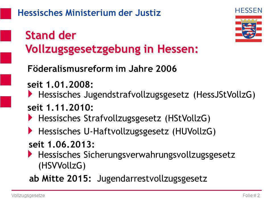Vollzugsgesetzgebung in Hessen:
