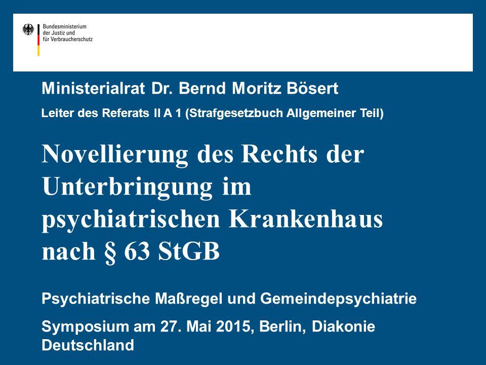 Ministerialrat Dr. Bernd Moritz Bösert