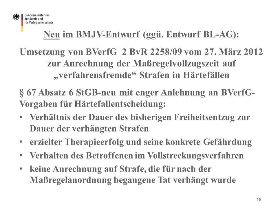 Neu im BMJV-Entwurf (ggü. Entwurf BL-AG):