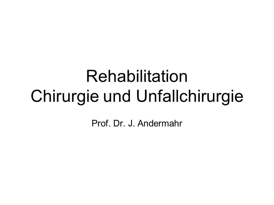 Rehabilitation Chirurgie und Unfallchirurgie