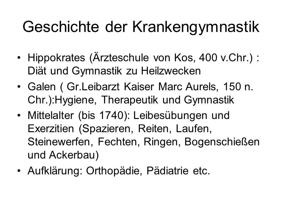 Geschichte der Krankengymnastik