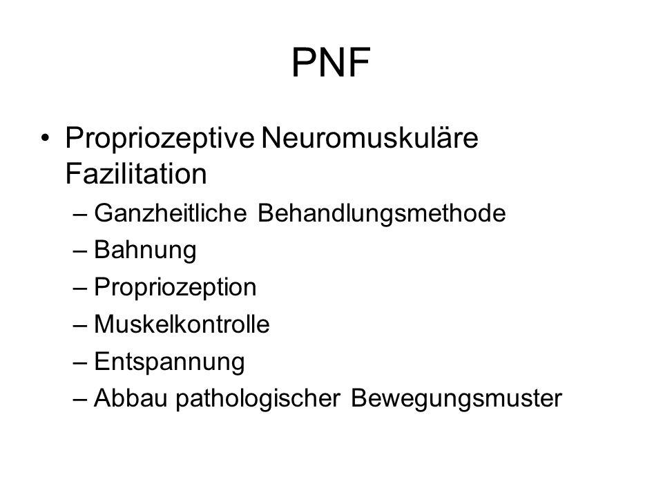 PNF Propriozeptive Neuromuskuläre Fazilitation