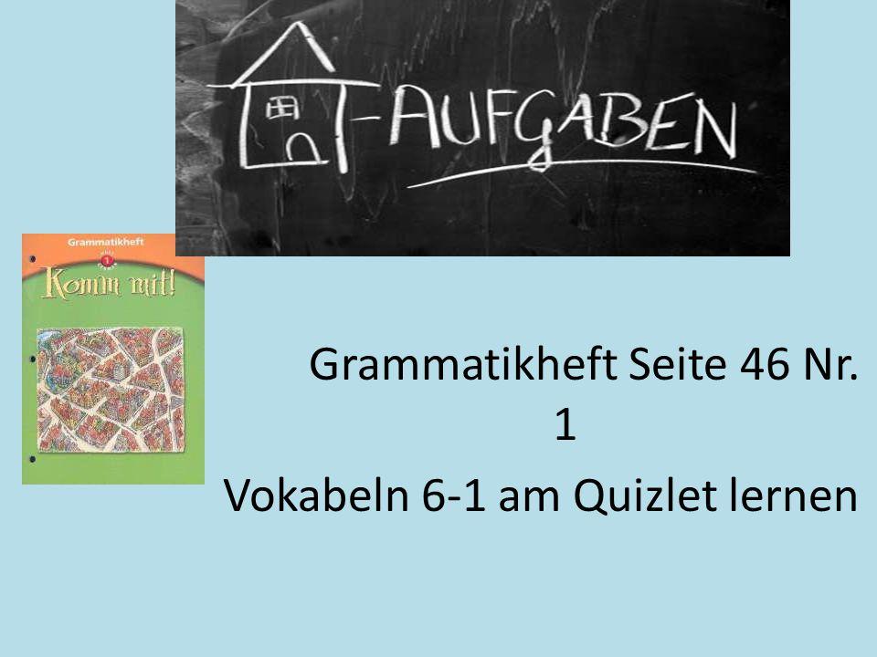 Vokabeln 6-1 am Quizlet lernen