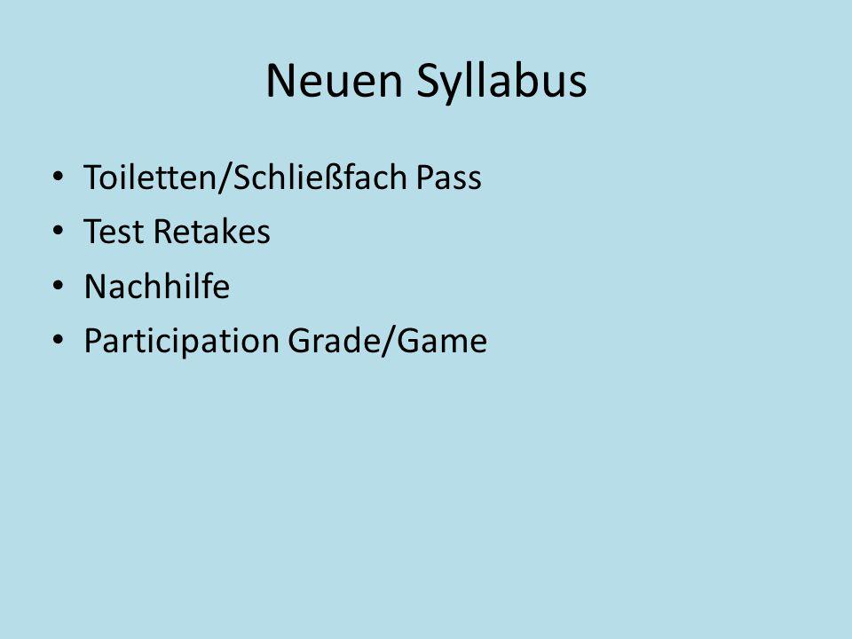 Neuen Syllabus Toiletten/Schließfach Pass Test Retakes Nachhilfe