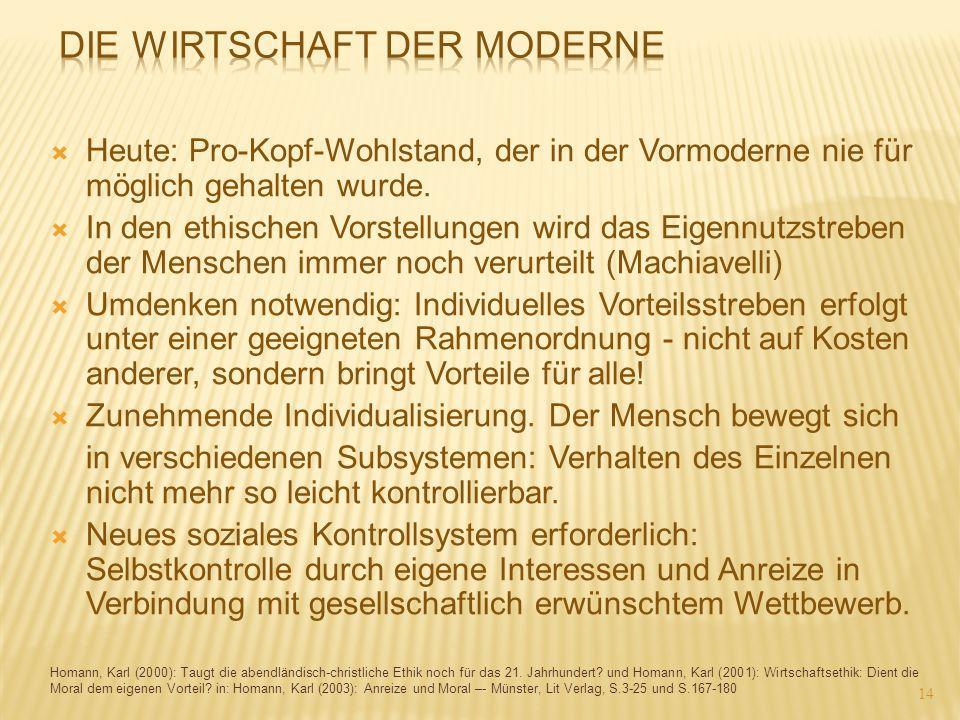 Die Wirtschaft der Moderne