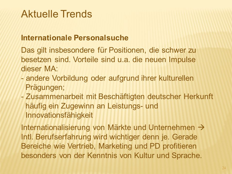 Aktuelle Trends Internationale Personalsuche
