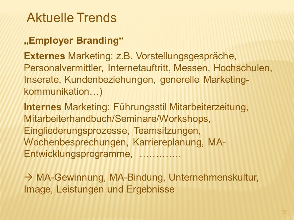 "Aktuelle Trends ""Employer Branding"