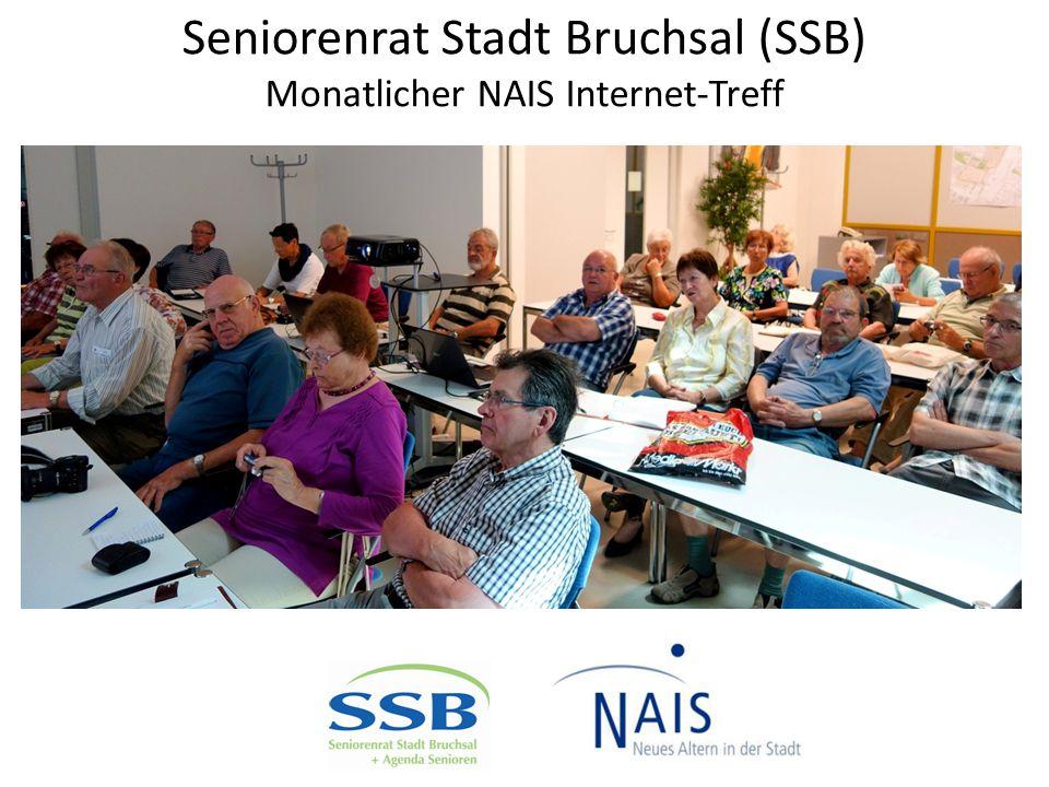 Seniorenrat Stadt Bruchsal (SSB) Monatlicher NAIS Internet-Treff