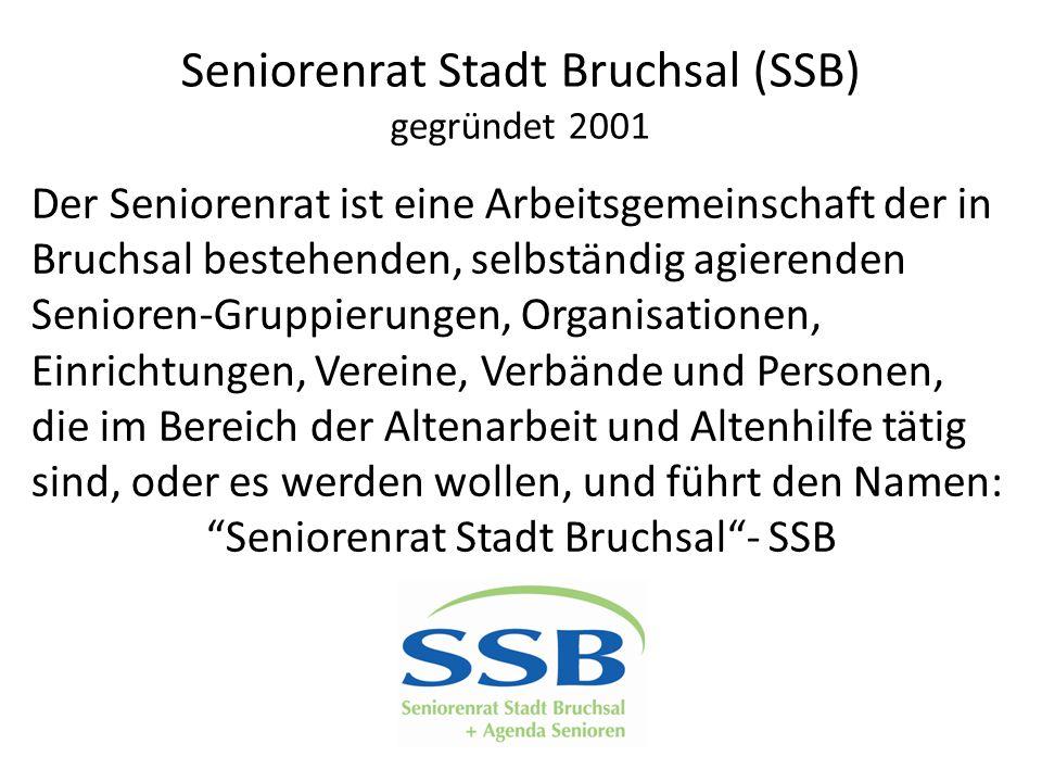 Seniorenrat Stadt Bruchsal (SSB) gegründet 2001