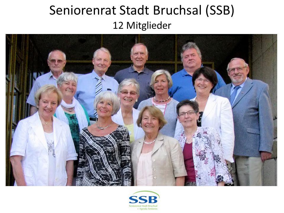 Seniorenrat Stadt Bruchsal (SSB) 12 Mitglieder
