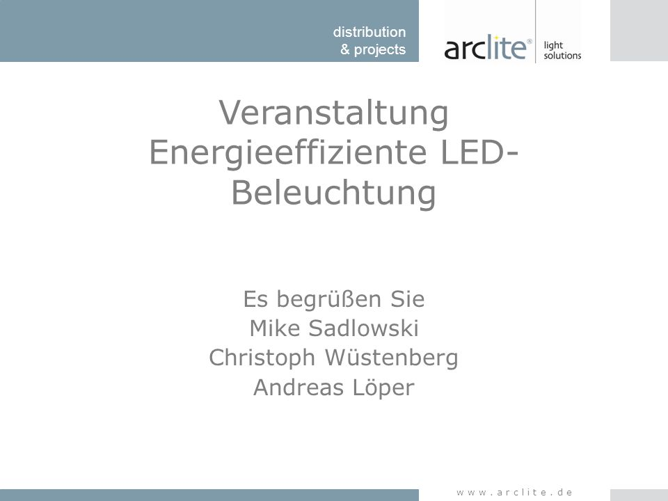 Veranstaltung Energieeffiziente LED-Beleuchtung