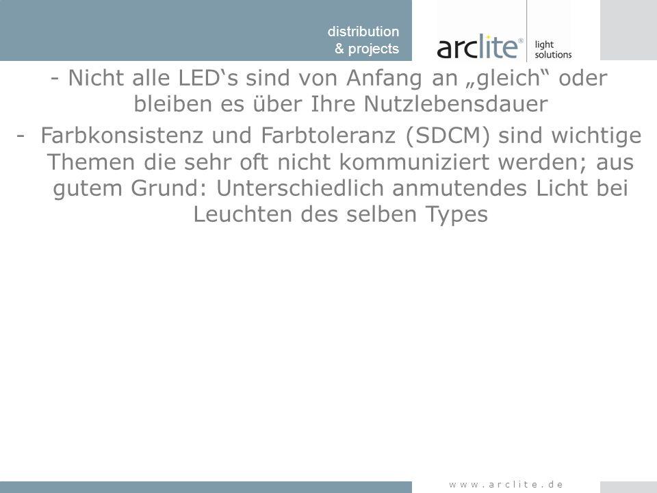 """- Nicht alle LED's sind von Anfang an """"gleich oder bleiben es über Ihre Nutzlebensdauer"""