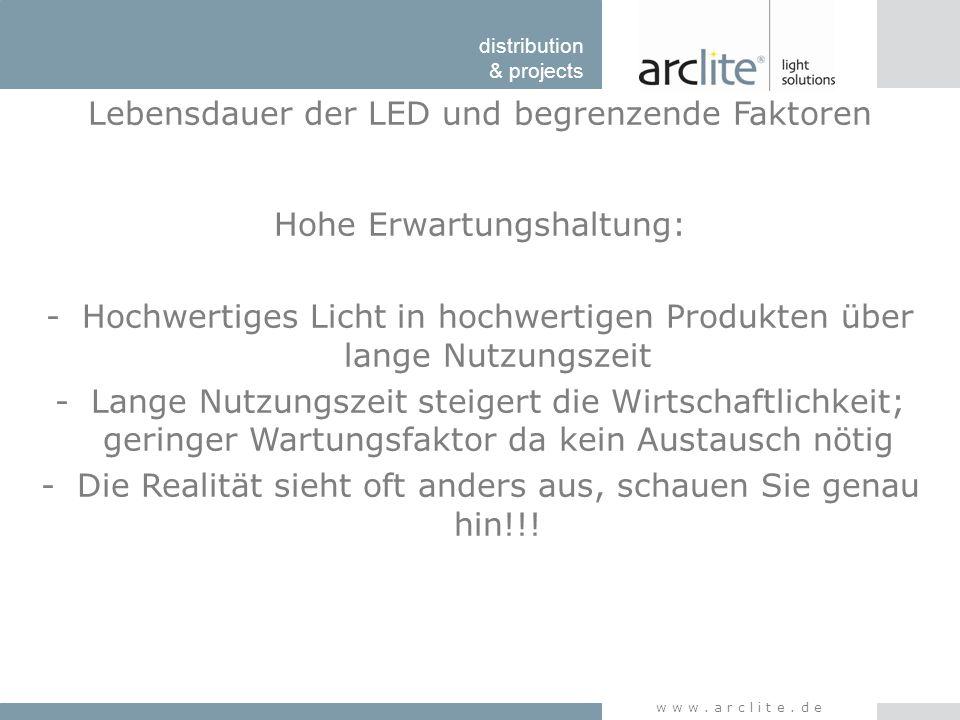 Lebensdauer der LED und begrenzende Faktoren