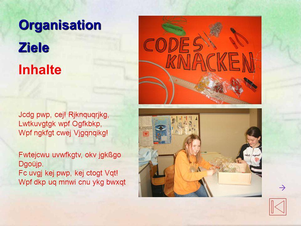 Organisation Ziele Inhalte Jcdg pwp, cej! Rjknquqrjkg,